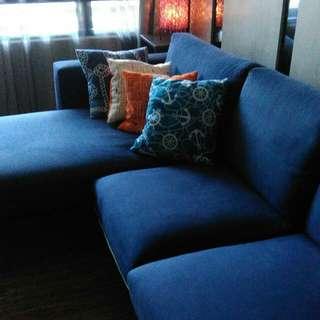 2+1藍色沙發組