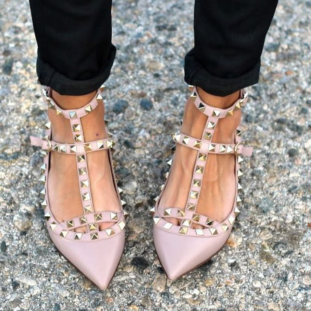 e24abed7a17c 1 1 Valentino studded flats shoes size 37