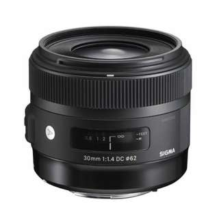 Sigma 30mm f/1.4 DC HSM Art Lens for Canon and Nikon