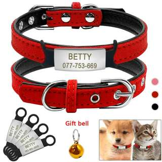 Customized Engraving Pet ID Tag Collar For Small/ Medium Dog & Cat