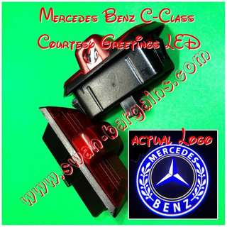 Integrated Mercedes-Benz C-Class Logo LED Light Ghost Shadow Projector Car Door Courtesy Welcome Greetings Lamp C180 C200 C230 C280 C300 C400