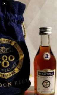 1995年出品,馬爹利藍帶干邑280週年紀念酒辦50mI