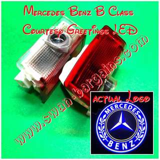 Integrated Mercedes-Benz B Class W246 (2012-2018) Logo LED Light Ghost Shadow Projector Car Door Courtesy Welcome Greetings Lamp B160 B180 B200 B220