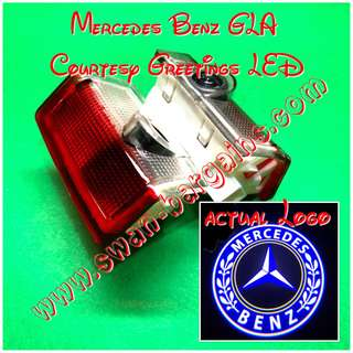 Integrated Mercedes-Benz GLA X156 Logo LED Light Ghost Shadow Projector Car Door Courtesy Welcome Greetings Lamp GLA180 GLA200 GLA250 GLA45 AMG