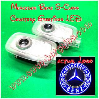 Integrated Mercedes-Benz S-Class (2006 - 2013) Logo LED Light Ghost Shadow Projector Car Door Courtesy Welcome Greetings Lamp