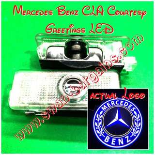 Integrated Mercedes-Benz CLA Logo LED Light Ghost Shadow Projector Car Door Courtesy Welcome Greetings Lamp CLA180 CLA200 CLA220 CLA250