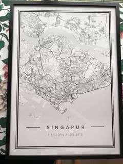 Singapore - print + frame