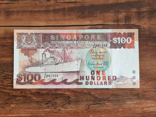 $100 Ship Note A/29 861559