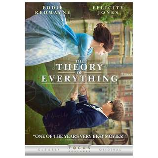 BRAND NEW DVD - THE THEORY OF EVERYTHING (ORIGINAL USA IMPORT CODE 1)