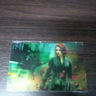 Black widow avengers ezlink sticker free postage