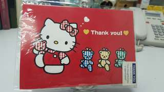 Hello kitty 賀卡 (Thank you!)