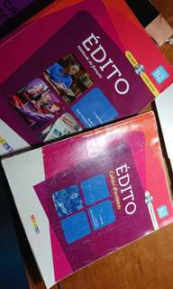Le nouvel edito B2 textbook and workbook