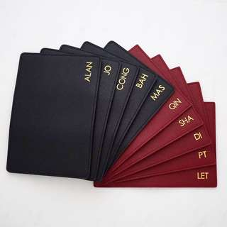 Monogram Personalised passport holder Custom passport cover Initial passport