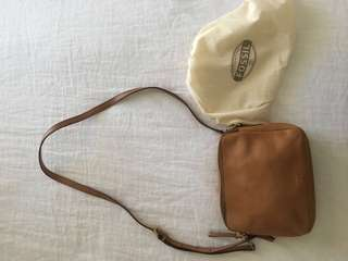 FOSSIL tan leather small bag