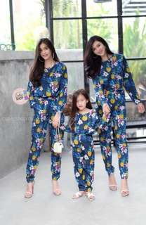 Set top and pants for kids and ladies ; 2 set