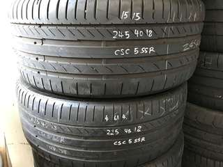 245/40/18 continental csc3 run flat tyre $50pc 1pc available