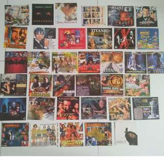 LOT OF 36 (mainly 90s) CD COVER (NOTE NO CDs) of movies of yesteryears ---self collect at Blk 208B Punggol Place or add $4 for registered mail