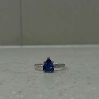 1.21ct natural blue sapphire ring
