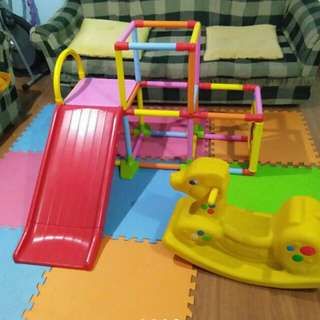 Kiddie slide - complete set up