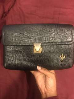 Country Hide Leather Clutch