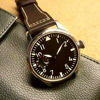Classic Black Pilot Watch