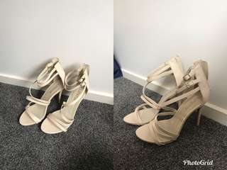 Lipstick heels nude size 8