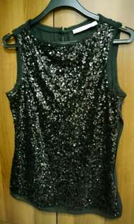 New black sequinned top