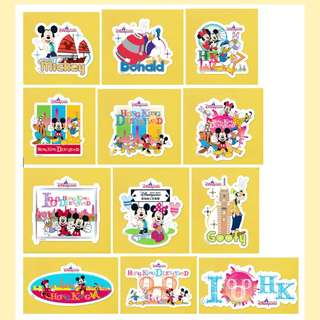 迪士尼 Disney sticker 2017 香港主題貼紙 一套 12 張