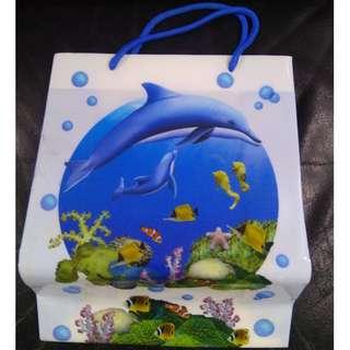 Attractive Dolphin,Seahorse Plastic bag