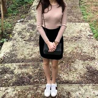 薄長袖+針織裙200
