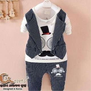 Baju Setelan Anak Casual Linen Hitam