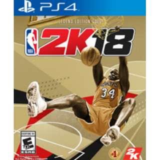 PS4 NBA 2K18 LEGEND GOLD EDITION