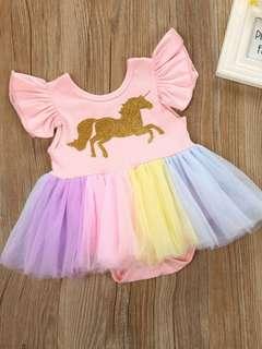 Unicorn romper tutu skirt