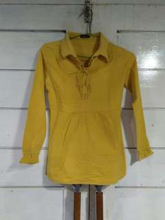 Peplum yellow