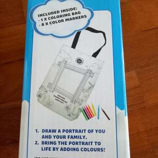 Colouring Bag with markers