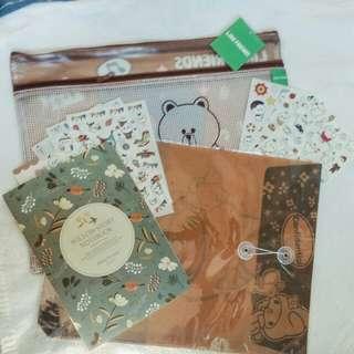 #2 Bundle PROMO Sale! Kawaii Stickers @4 Folder Notebook
