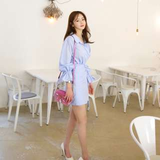 韓國直送公主風shirt dress