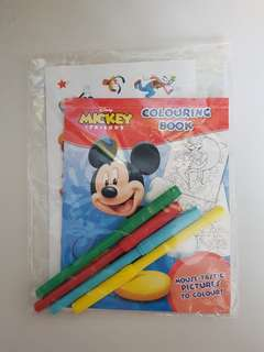 Bn Disney Mickey colouring book with markers and stickers set