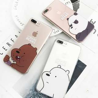 We Bare Bears iPhone Cases for 6 / 7 / 8 + / X