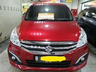 Suzuki Ertiga GX 1.4 Tahun 2016 Merah siap pakai Kilometer antik