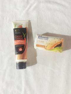 GT carrot lotion & Soap