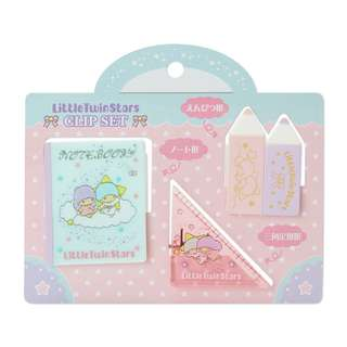 Japan Sanrio Little Twin Stars Mini Stationery Clip Set