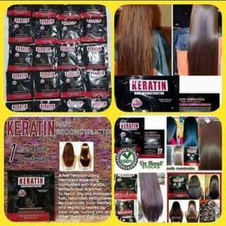 Keratin hair construction