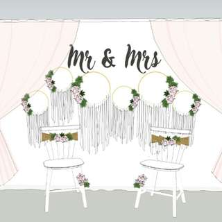 Budget Beautiful Wedding Photobooth or Backdrop RENTAL