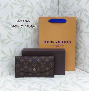 Louis Vuitton Monogram Portefeuille Emilie Long Wallet