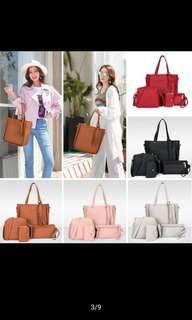 4pcs Set PU Leather Bag