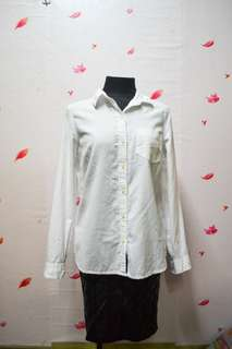 Old Navy White Long Sleeve Blouse