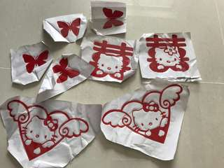 "Brand new hello kitty wedding decorations""喜"" xi word"