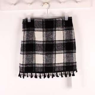 [INSTOCKS] Checkered Wool Skirt