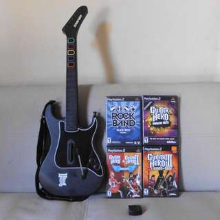 PlayStation 2 or PS2 Guitar not PS1 PSP PS3 Nintendo Xbox